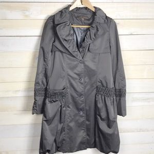 West End Trench With Bubble Hem Size Medium